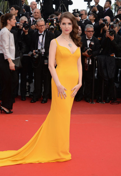 dress gown anna kendrick cannes red carpet dress red carpet long dress long prom dress prom dress