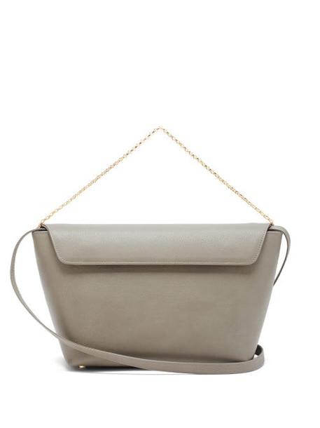 Tsatsas - Olive Leather Bucket Bag - Womens - Grey