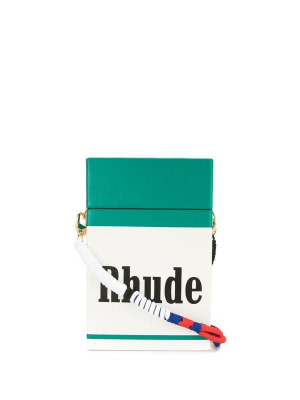 Rhude Cig logo-print crossbody bag in green