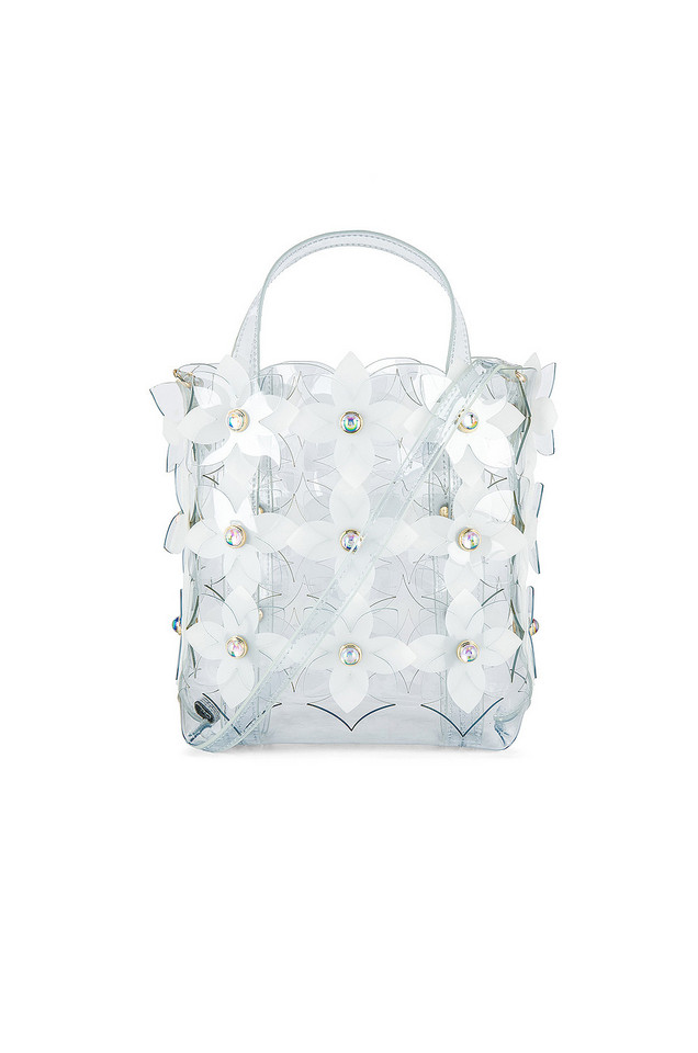 Zac Zac Posen Floral Bouquet Small Shopper in white
