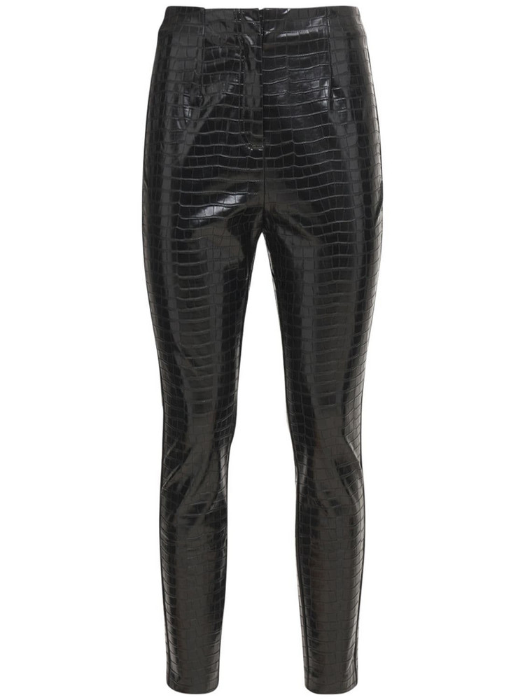 ROTATE Jeanine Faux Leather Pants in black