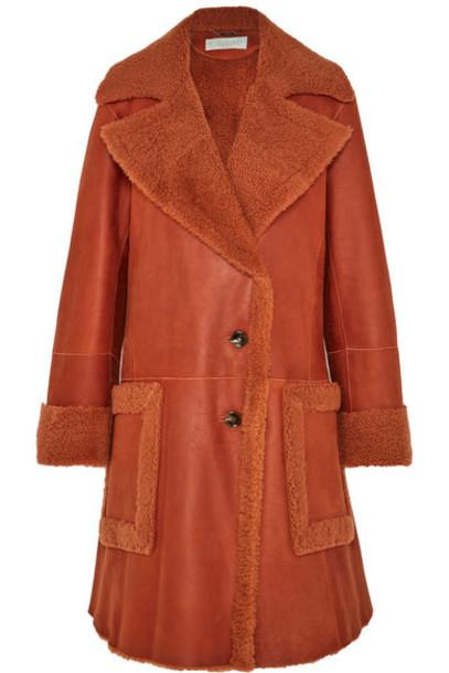 Chloé Chloé - Shearling Coat - Orange