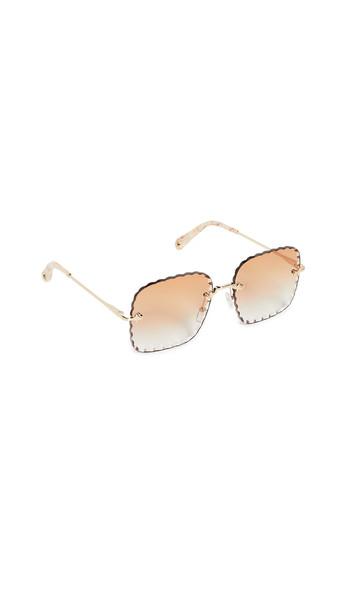 Chloe Rosie Sunglasses in gold / peach