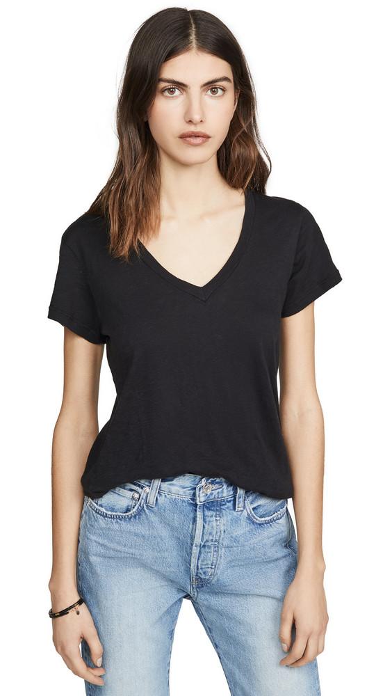 SUNDRY V Neck T-Shirt in black