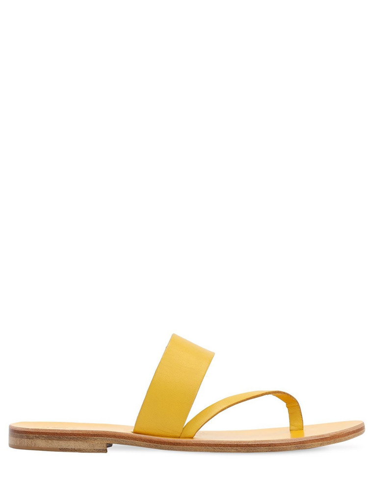 ALVARO 10mm Leather Thong Sandals in yellow