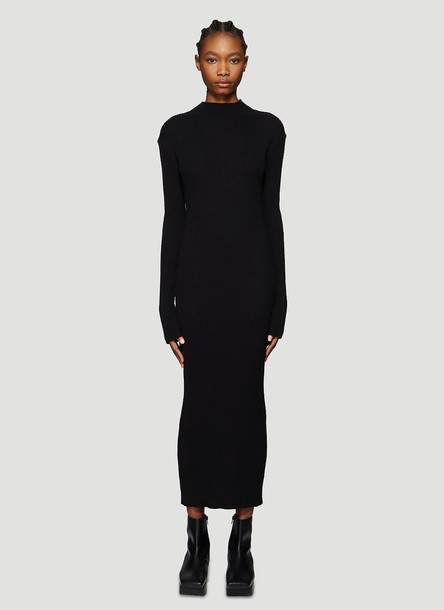 Our Legacy High-Neck Ribbed Knit Dress in Black size FR - 36
