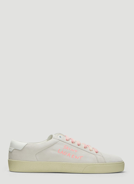 Saint Laurent Court Classic SL/06 Embroidered Sneakers in White size EU - 39