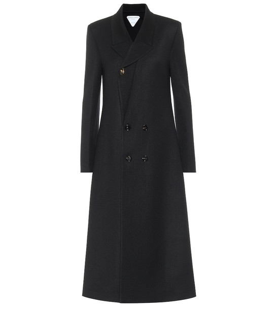 Bottega Veneta Stretch-wool twill coat in black