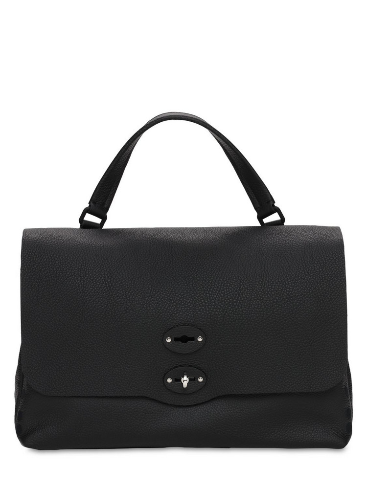 ZANELLATO Postina Pura Medium Leather Bag in black