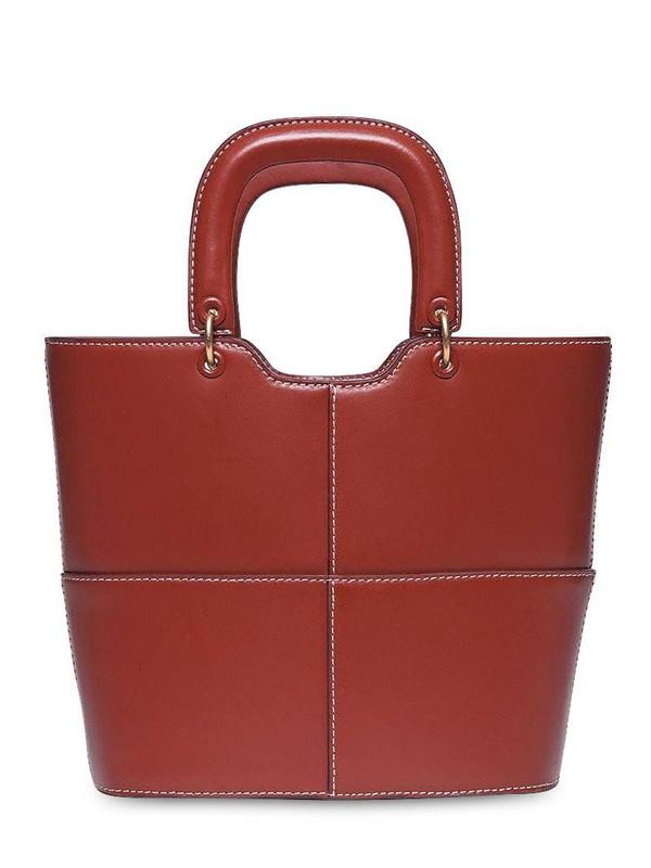 STAUD Andy Smooth Leather Top Handle Bag