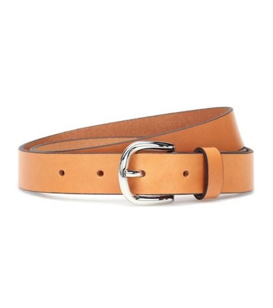 Isabel Marant Zap leather belt in brown