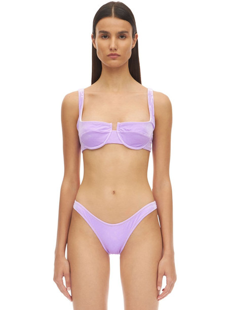 REINA OLGA Brigitte Velvet Bikini Set W/underwire in lilac