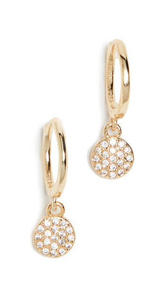 Shashi Sparkly Sky Huggie Earrings in gold