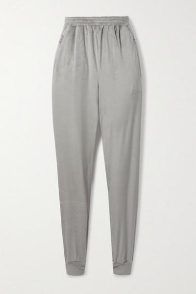 SKIMS - Velour Track Pants - Smoke in gray