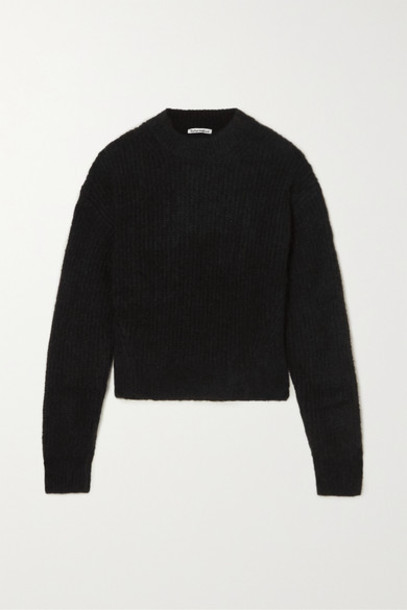 Reformation - Finn Ribbed Alpaca-blend Sweater - Black