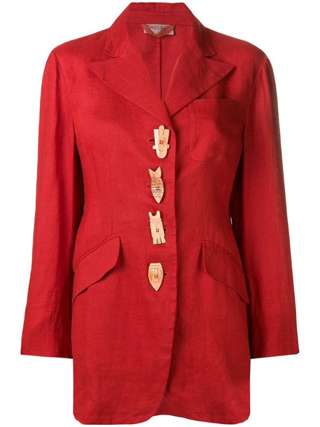 Romeo Gigli Pre-Owned 1990's embellished blazer in red