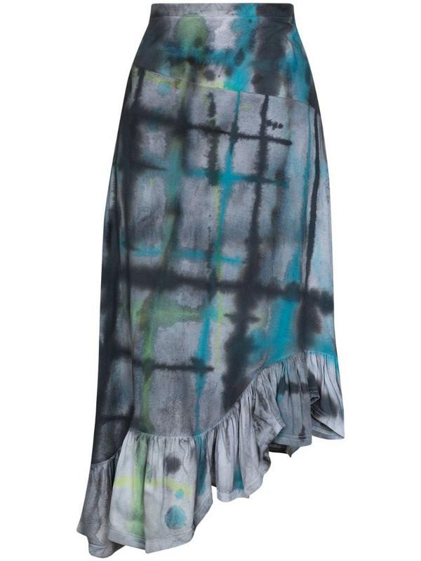 Collina Strada x Browns 50 Michi asymmetric tie-dye skirt in black