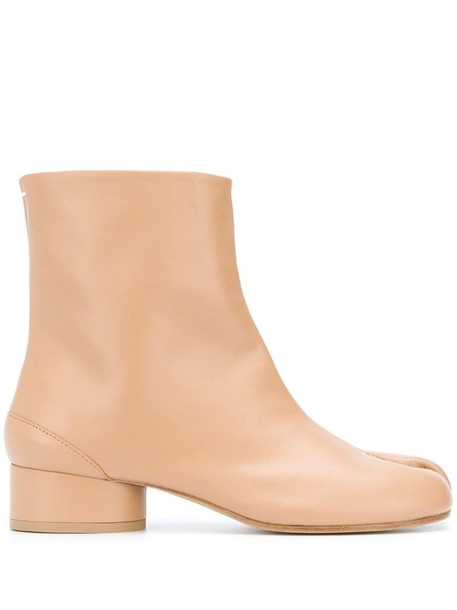 Maison Margiela Tabi ankle boots in neutrals