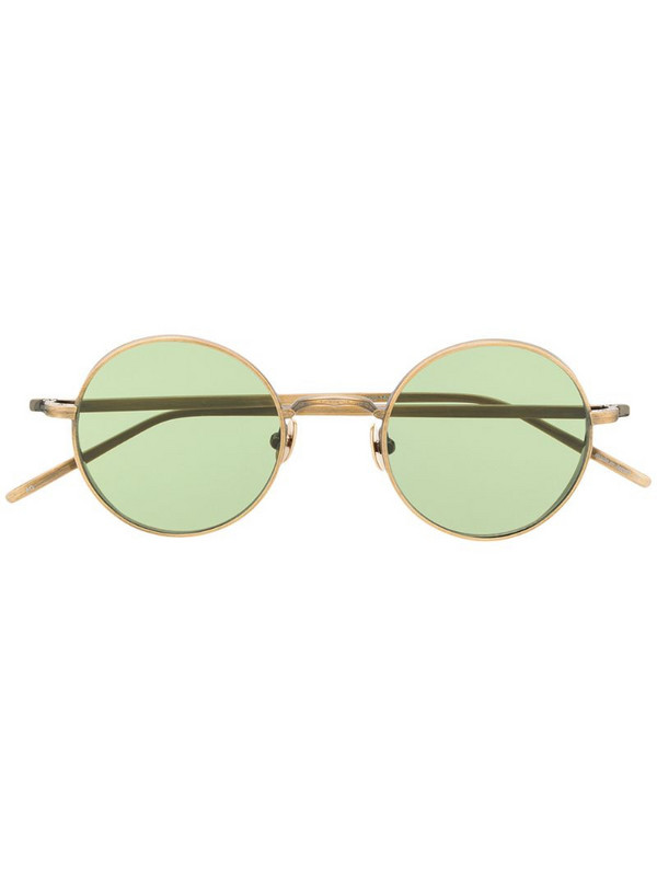 Matsuda embossed round-frame tinted sunglasses in gold