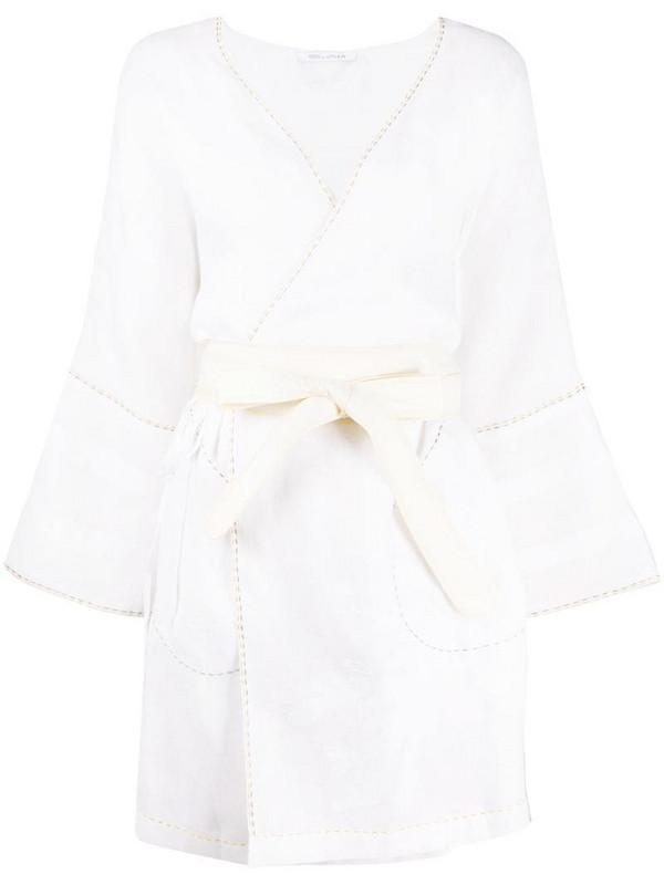 Eres kaftan dress in white
