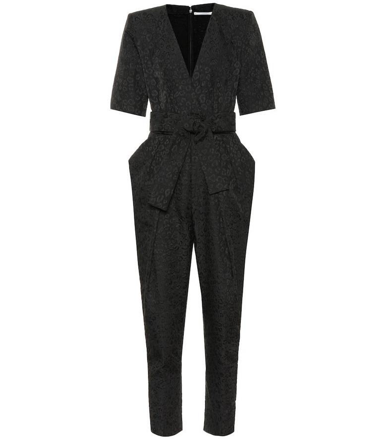 Stella McCartney Exclusive to Mytheresa – Leopard-jacquard jumpsuit in black
