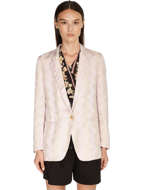 FORTE FORTE Lurex Jacquard Jacket in pink