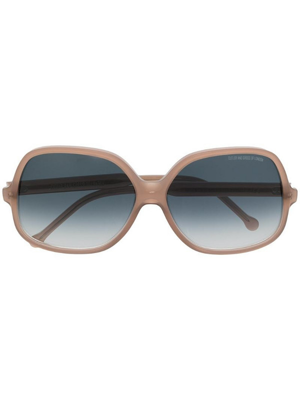Cutler & Gross 0811 square-frame sunglasses in grey