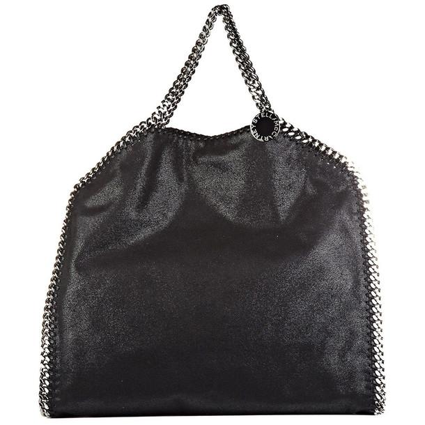 Stella McCartney Handbag Shopping Bag Purse Tote 3chain Falabella Fold Over Shaggy Deer in nero