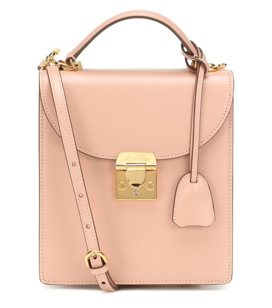 Mark Cross Uptown leather tote in pink