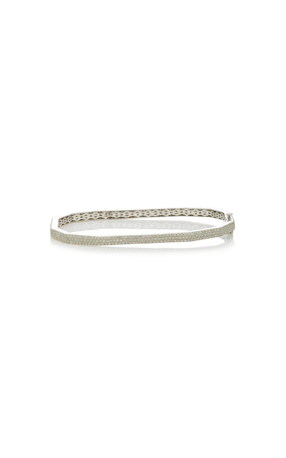Ofira 18K White Gold And Diamond Dode Cuff in silver