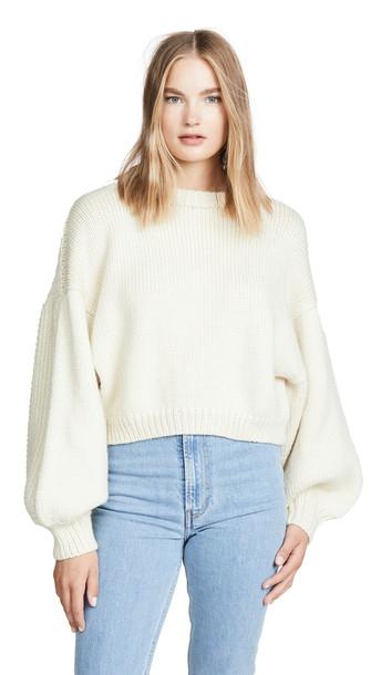 I Love Mr Mittens Jackie Sweater in cream