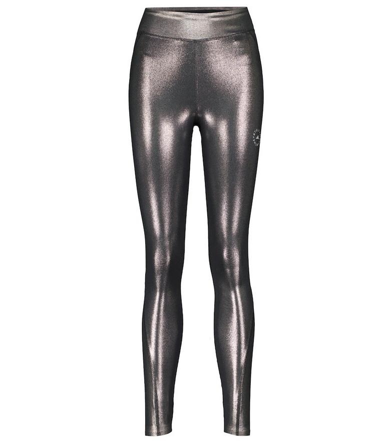 adidas by Stella McCartney Shiny training leggings in silver