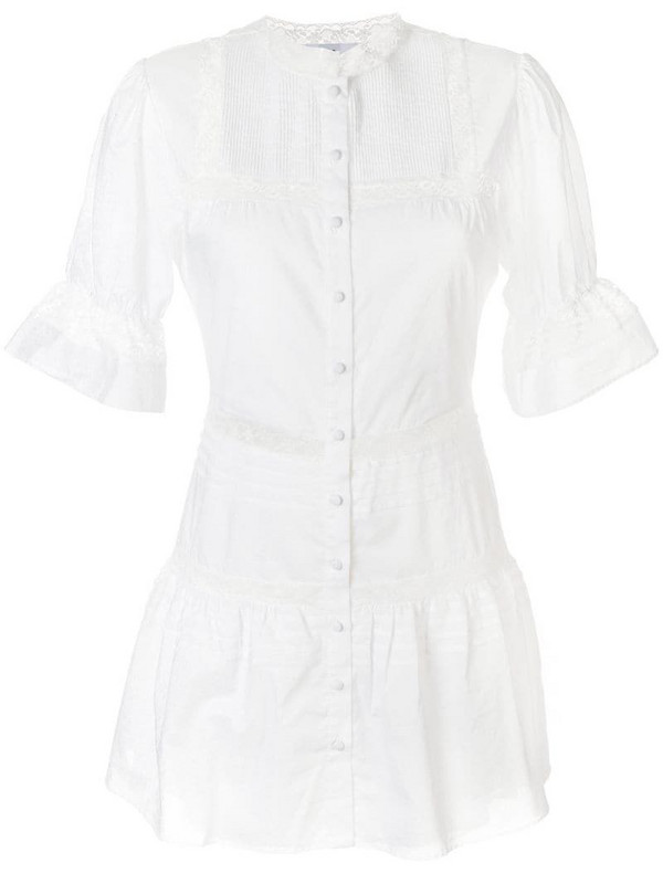 Sir. Maci button down mini dress in white