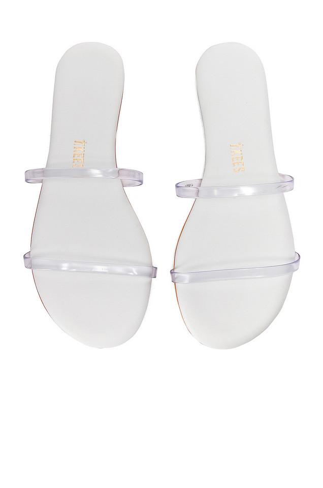 TKEES Gemma Sandal in white