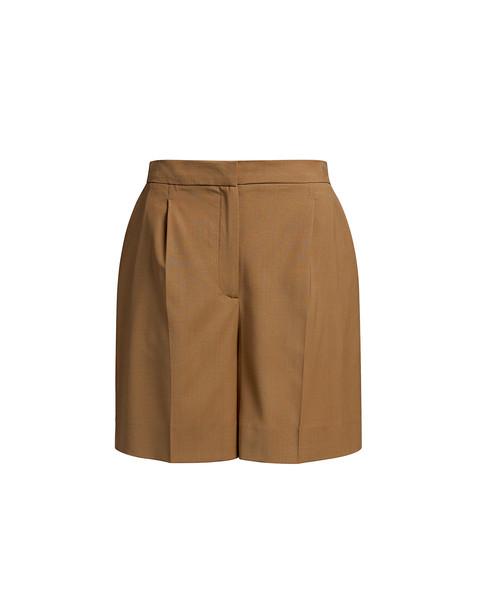 Alexa Chung Tailored Shorts Tan