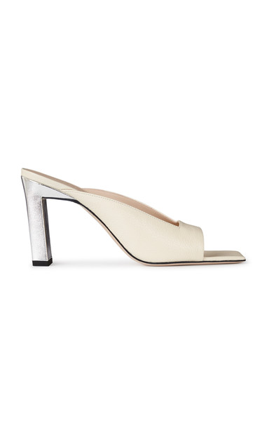 Wandler Isa Leather Sandals in white