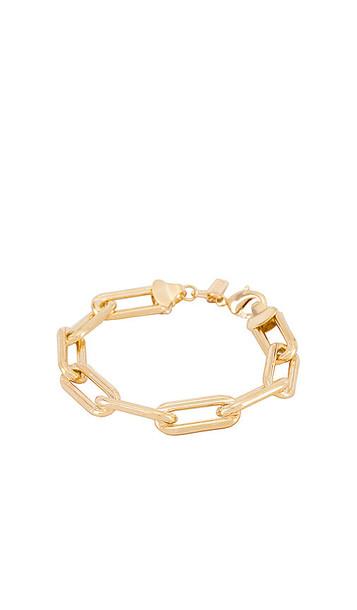 joolz by Martha Calvo Box Link Bracelet in Metallic Gold