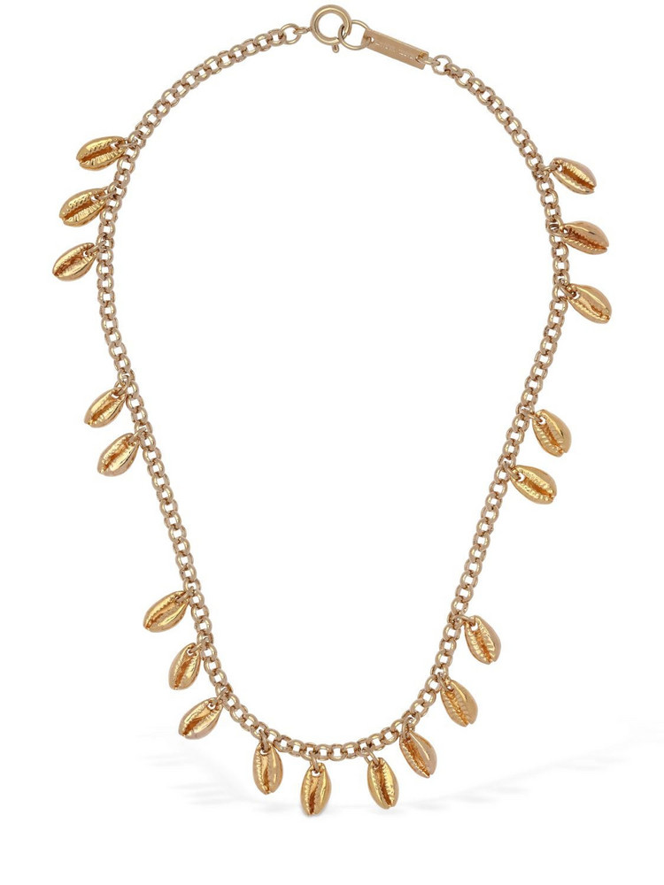 ISABEL MARANT Amer Shell Shape Charm Short Necklace in gold