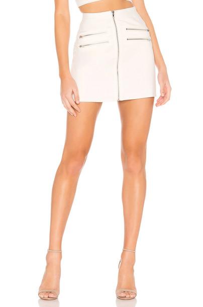 superdown Gwen Moto Skirt in white