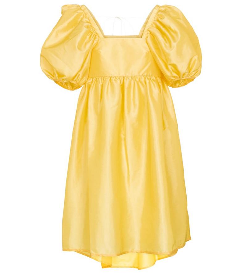 Cecilie Bahnsen Tilde faille minidress in yellow