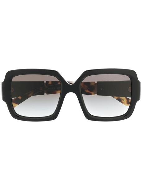 Prada Eyewear 0PR21XS geometric-frame sunglasses in brown