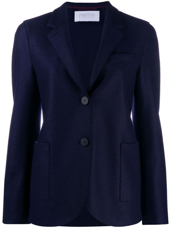 Harris Wharf London fitted button jacket in blue