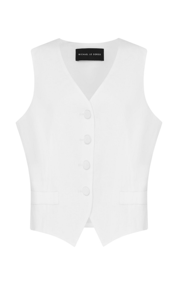 Michael Lo Sordo Relaxed Waist Coat in white