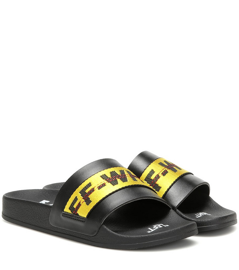 Off-White Exclusive to Mytheresa – Industrial slides in black
