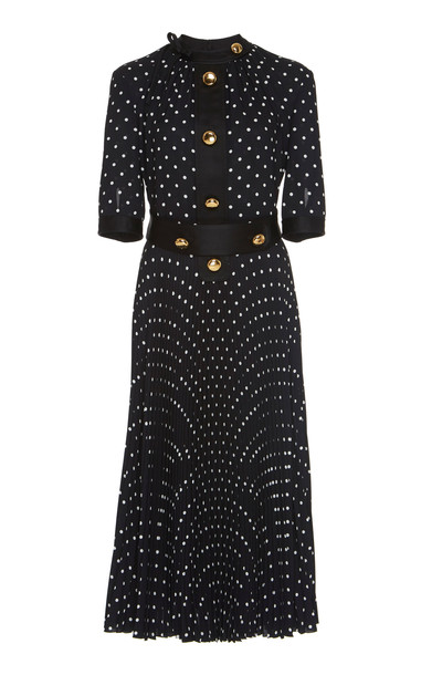 Prada Polka Dot Short-Sleeve Dress Size: 44 in print