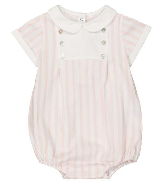 Tartine et Chocolat Baby striped cotton playsuit in white