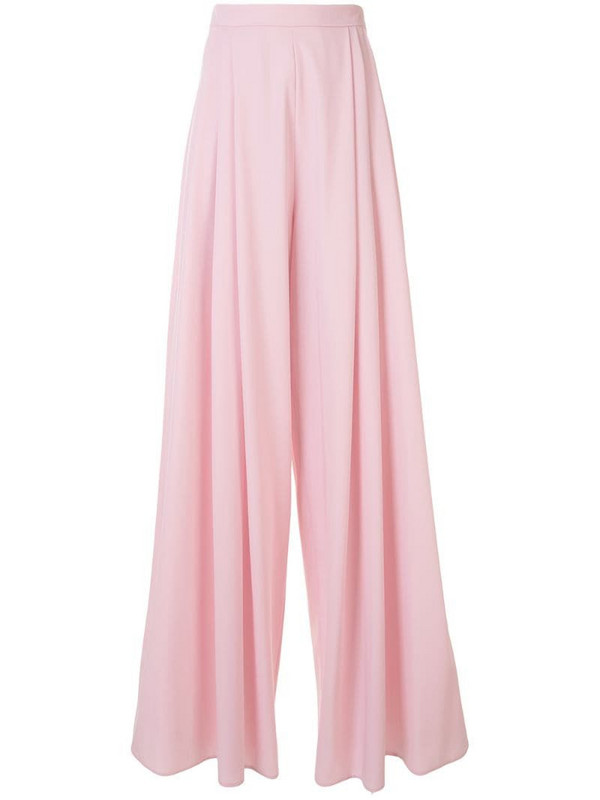 Delpozo wide palazzo trousers in pink