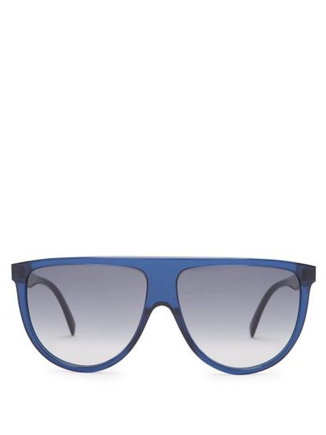 Celine Eyewear - Shadow D Frame Aviator Sunglasses - Womens - Navy