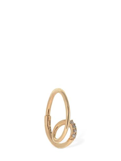 MARIA BLACK Acrobat Diamond Left Mono Hoop Earring in gold / white