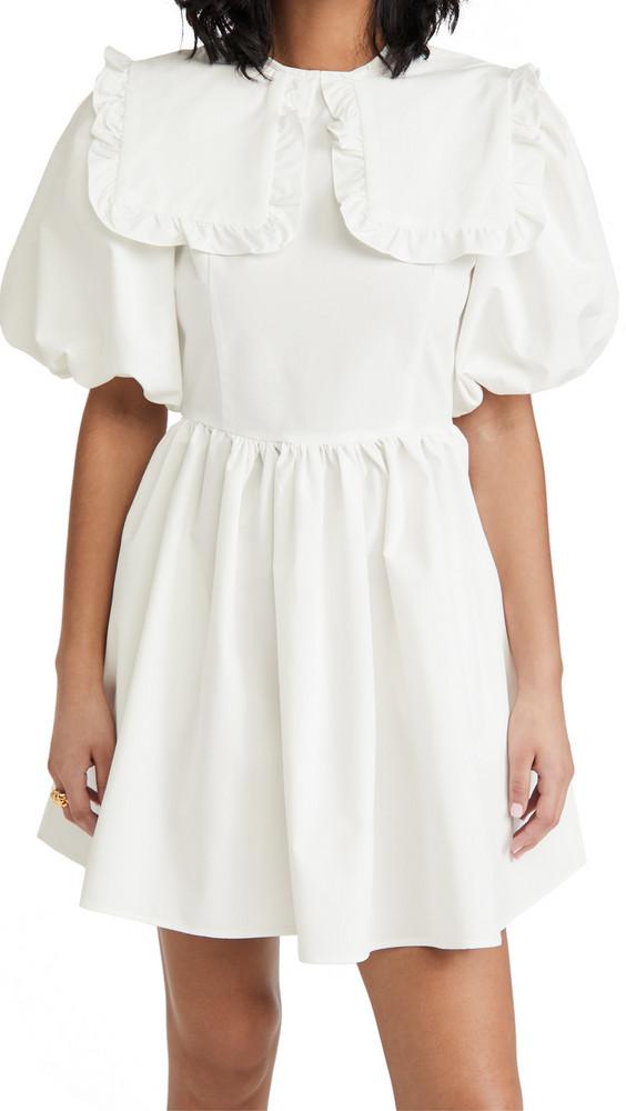 Sister Jane Skip The Queue Mini Dress in ivory
